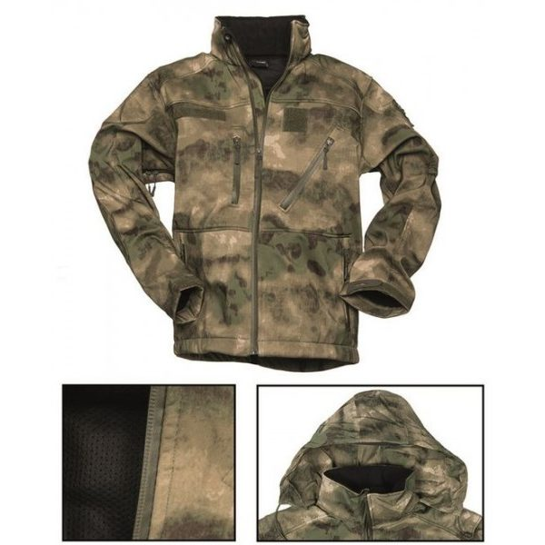 Куртка SOFT-SHELL JACKET SCU MIL-TEC атакс
