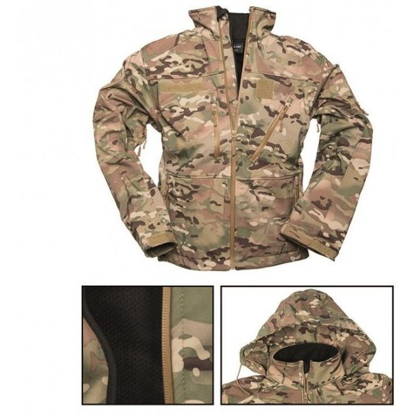 Куртка SOFT-SHELL JACKET SCU MIL-TEC Мультикам