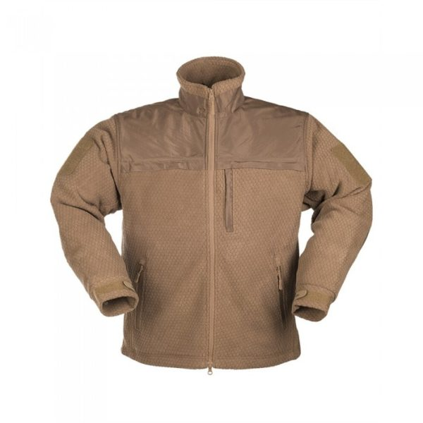 Кофта флисовая MIL-TEC ELITE FLEECE JACKE HEXTAC койот