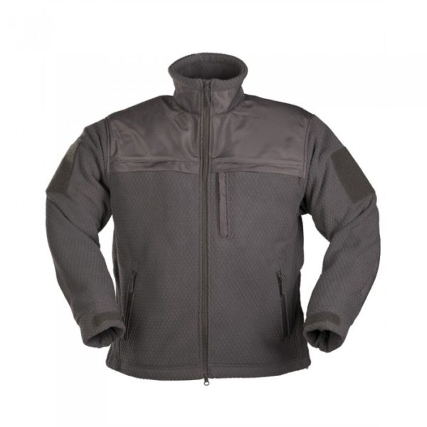 Кофта флисовая MIL-TEC ELITE FLEECE JACKE HEXTAC Urban Grey