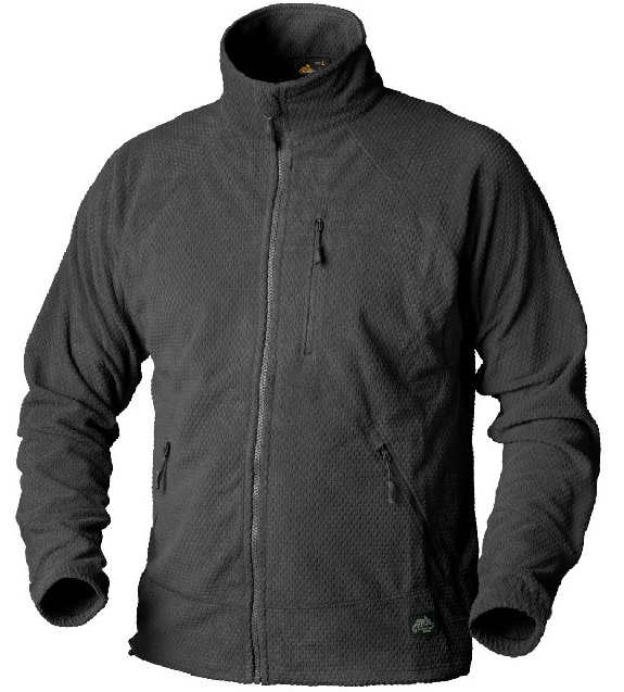 Куртка флисовая ALPHA TACTICAL Helikon-Tex Grid Fleece Черная